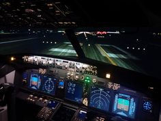 B737NG flight simulator, night scene, as real as it gets,