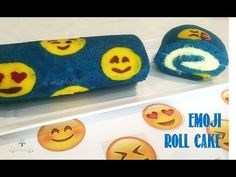 How to make an Emoji Roll Cake from Creative Cakes by Sharon Emoji Templates, Emoji Cake, Cupcake Cakes, Cupcakes, Marble Cake, Creative Cakes, Party Cakes, Frosting, Cake Recipes