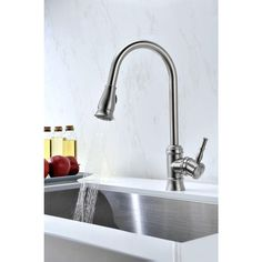 Hansgrohe Cento Kitchen Faucet In Steel Optik & Chrome Finish Adorable Costco Kitchen Faucet Decorating Design