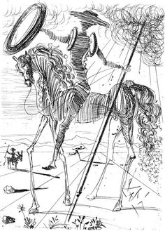 don quijote by Dali