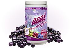 Click the pic to purchase a 120-serving Acai Natural Energy Boost family-sized canister for $39.95