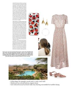 """""""Walking around her private pool and chatting with Alex and the kids from the UK"""" by royaluk ❤ liked on Polyvore featuring Catherine Zoraida and Industrie"""