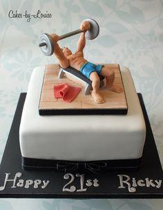 Tarta Gimnasio Cake Of Gym Cake Fondant Fitness Tartas