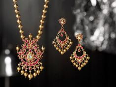 Ruby Necklace Set ~ Latest Jewellery Designs
