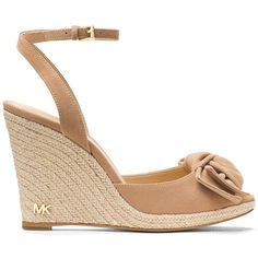 08f4cc0bb009 Michael Michael Kors Women s Willa Bow-Accented Wedge Sandals ( 90) ❤ liked  on