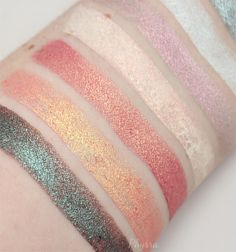 Makeup Geek Duochrome Pigment swatches