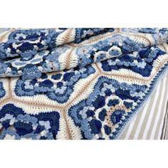 Crochet pattern for Delft blanket by Jane Crowfoot