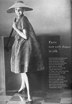 """""""Refrain"""", silk, Yves Saint Laurent for Christian Dior, S/S 1958."""
