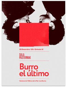 Poster Los Burros by MARIN DSGN, via Flickr