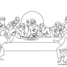 the last supper coloring page you will love to color a nice coloring page