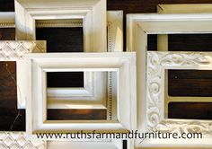 This person took a bunch of mismatched picture frames, and painted them white to make them match. I'm gonna do the same thing, except paint them silver and have a home filled with my favorite people, places and animals...