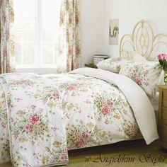 Wnętrza, Utonąć w kwiatach - stylowa angielska pościel - Niezwykle romantyczna pościel ekskluzywnej angielskiej firmy Broomhill. Komplet ozdobiony jest prześlicznymi bukietami kwiatów. Pościel z...