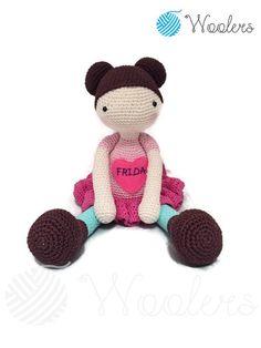 Lola / Crochet Doll / Handmade Amigurumi / Amigurumi animal/doll von WoolersPL auf Etsy Mild Soap, Crochet Designs, Crochet Dolls, Baby Names, Teddy Bear, Etsy, Handmade Gifts, Animals, Products