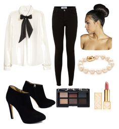 """""""work day #polyvore"""" by mcgeorgel on Polyvore featuring H&M, Giuseppe Zanotti, Tory Burch, NARS Cosmetics and Boohoo"""