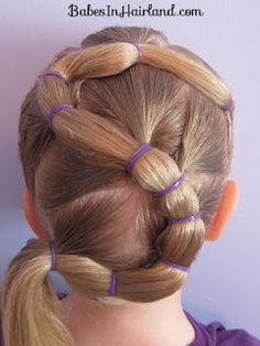 Letter S hairstyle. May have to try this one.