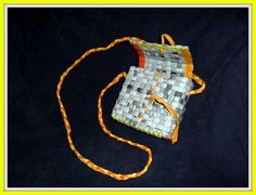 Bag made from newspaper - diy