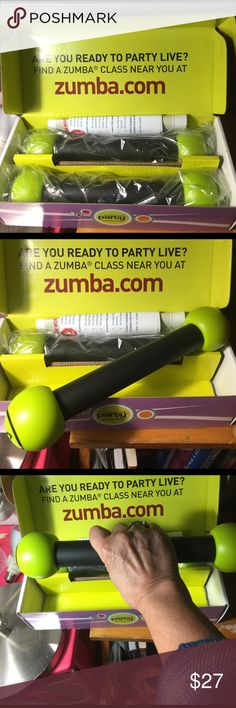 New in box ZUMBA Toning Weights Zumba toning weights, in box. Zumba Makeup