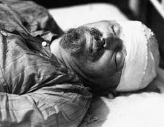 Leon Trotsky's Deathbed -Russian revolutionary Leon Trotsky dies in hospital in Mexico City. He had been attacked by NKVD agent Ramon Mercader with an ice axe, and died the next day