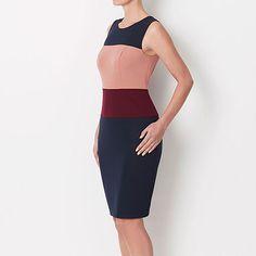 Petra Pencil Dress - Navy Multi
