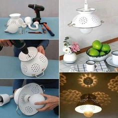 Use a diffuser and med watt bulb, to be an accent light. Focusing light up and out instead of downward.