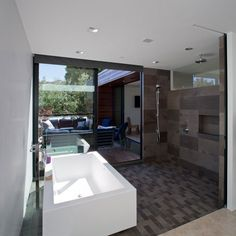 The Secret House is a renovated 1950s-style ranch located in the Pacific Palisades section of Los Angeles, California