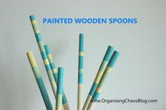 Painted Wooden Spoon - OrganisingChaos Wooden Spoons, Organising, Organization, Blog, Getting Organized, Organisation, Tejidos, Blogging