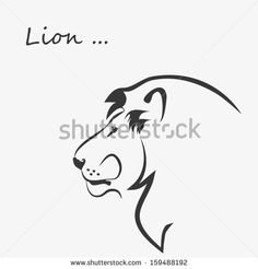 LION outline symbol