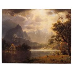 off Hand made oil painting reproduction of Estes Park, Colorado, one of the most famous paintings by Albert Bierstadt. The oil painting Estes Park, Colorado is one of the paradisiac renderings that the artist Albert Bierstadt made of the R. Estes Park Colorado, Landscape Art, Landscape Paintings, Oil Paintings, Painting Art, Watercolor Landscape, Albert Bierstadt Paintings, Munier, Oil Painting Reproductions
