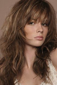 long hair with bangs and layers - Google Search