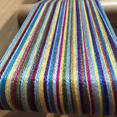 Fun warp of several different color yarns. Pre-wound warp and weft makes weaving fast and saves hundreds on weaving equipment. Weave towels or napkins or placemats.