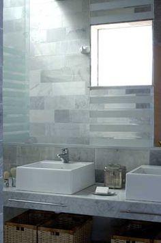 carrara marble tile.  www.martingomezarquitectos.com