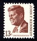 United States, 1967 - John F. Kennedy - stamp, featuring president John F. Kennedy, was issued by the United States on May 29, 1967.