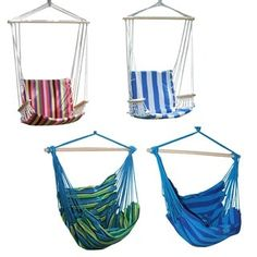 Shop for Adeco Colorful Stripe Hammock Chair. Get free shipping at Overstock.com - Your Online Garden