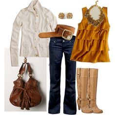 cute mustard and creme