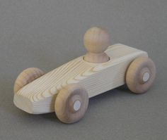 Large Wooden Race Car by Aero1Toys on Etsy, $6.25(9)