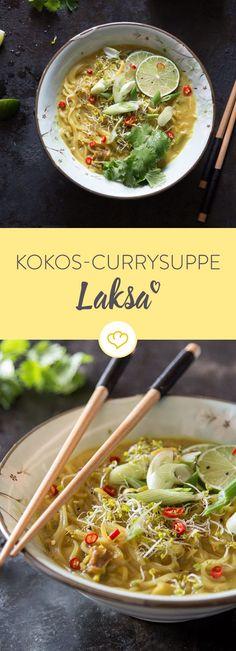 Das herrlich frische, süß-scharfe Aroma dieser Suppe aus Malaysia wird deine Geschmacksinne im Nu nach Fernost teleportieren. Da ist Fernweh garantiert!
