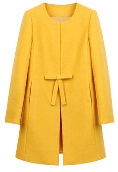 53e1f1c572c Shein kabát Žluťásek Yellow Fashion