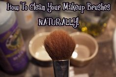 How to clean your make-up brushes naturally. Also, for an even easier way you can add a tablespoon of white vinegar in a cup of hot water, then soak for 20 min. Followed by a hot, then cold rinse and a pat dry will do it. Disinfects, dissolves grease/makeup, leaves no film, and is inexpensive.    Have you seen the new promotion Real Techniques brushes -$10 http://www.storeboard.com/samanjoin/videos/real-techniques-brushes-samantha-chapman-/48019