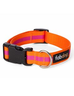 Shop where every purchase helps shelter pets! Fab Dog Pink Stripe Collar - from $19.99