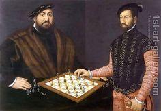 Jan Cornelisz Vermeyen:John Frederick the Magnanimous playing chess, 1552