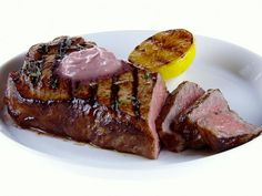 NY Strip Steak with Red Wine-Rosemary Butter