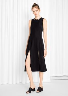 & Other Stories image 2 of Double Slit Dress in Black