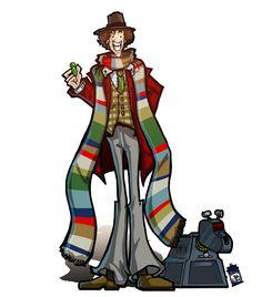 The Fourth Doctor and K-9. by joefreakinrocks.deviantart.com on @deviantART