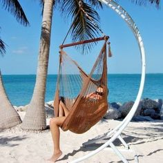 This 48 inches wide Large Caribbean Hanging Hammock Chair is the most comfortable hammock chair anywhere, this extra width provides ample shoulder room and a spacious feel. Hanging Hammock Chair, Hammock Stand, Brazilian Hammock, Backyard, Patio, Indoor Outdoor, Outdoor Decor, Garden Supplies, Bag Storage