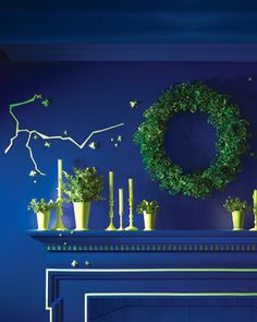 Halloween Decor: Glow-in-the-Dark Wreath
