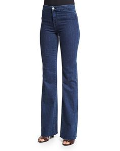 High-Rise Tailored Flare-Leg Jeans, Allegiance by J Brand Jeans at Neiman Marcus.