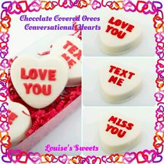 Chocolate Oreo Conversational Hearts