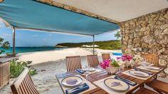 private beach grotto lunch in Anguilla