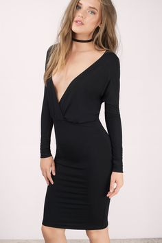 Bella Dolman Sleeve Midi Dress at Tobi.com #shoptobi
