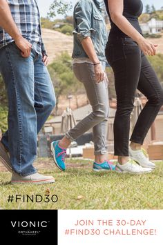 @VionicShoes has joined forces with SparkPeople to bring you the 30-day #Find30 Challenge. Just 30 minutes of activity a day can change your life. How will you #Find30? #walking #weightloss #healthyliving #exercise